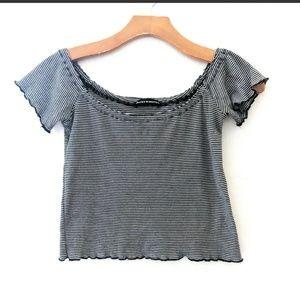 Brandy Melville OS crop off shoulder short shirt